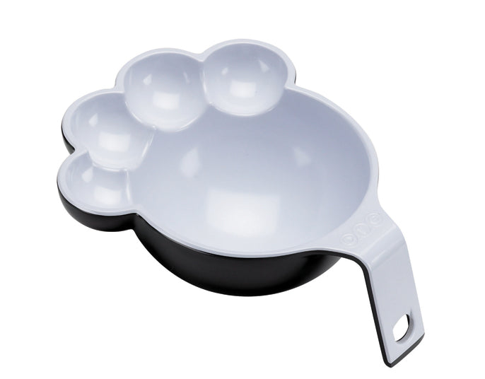 Two Tone Large Pet Food Scoop in Black & White