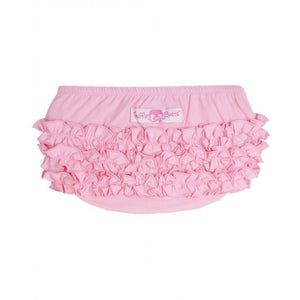 Pink Knit RuffleButt-Baby Girl Apparel - Bloomers-Ruffle Butts-0-3M-Eden Lifestyle