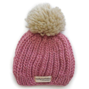 Rock Your Baby, Accessories - Hats,  Pink Pom Pom Hat