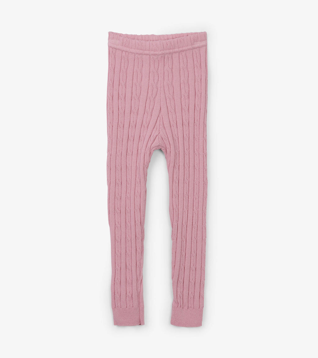Hatley - Pink Cable Knit Baby Leggings