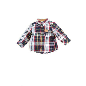 Fore! Axel & Hudson Plaid Boys Shirt-Baby Boy Apparel - Shirts & Tops-Fore-12-18M-Eden Lifestyle