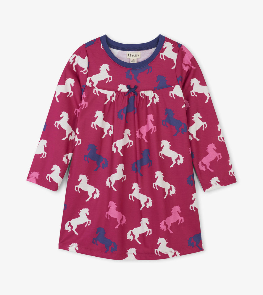 Hatley, Girl - Pajamas,  Hatley - Playful Horses Nightdress