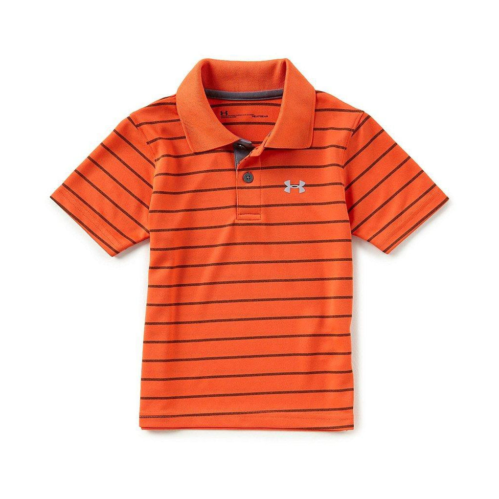 Playoff Stripe Polo - Graphite-Boy - Shirts-Under Armour-4-Eden Lifestyle