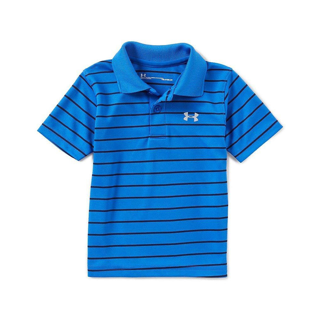 Playoff Stripe Polo - Ultra Blue-Boy - Shirts-Under Armour-4-Eden Lifestyle