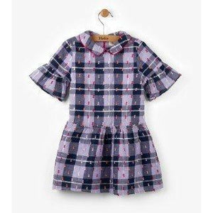 Hatley Puffy Purple Plaid Dress-Girl - Dresses-Hatley-2-Eden Lifestyle