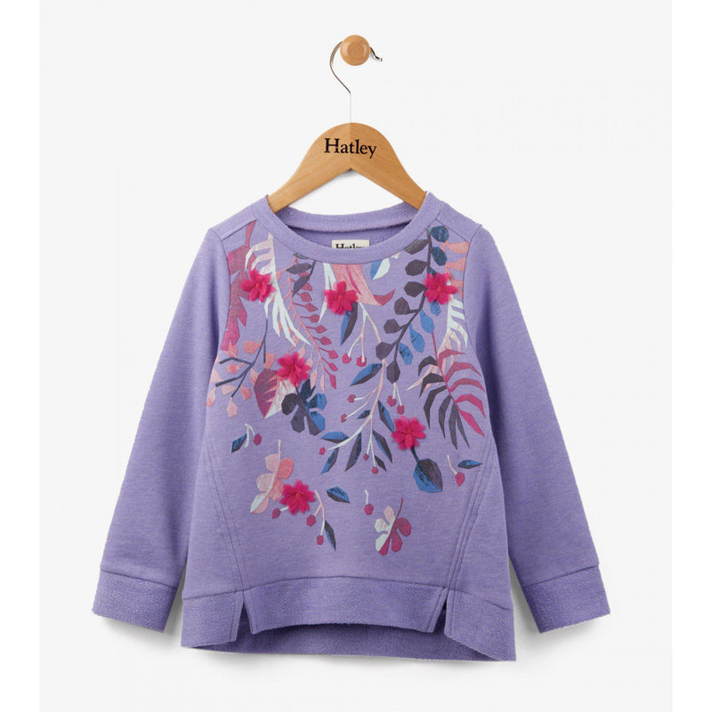 Hatley Purple Fronds Pull Over-Girl - Shirts & Tops-Hatley-2-Eden Lifestyle