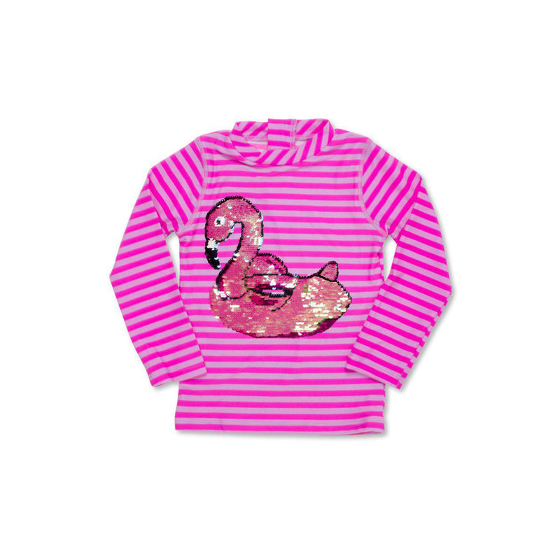 Magic Two-Way Sequin Pool Float Rashguard-Girl - Swimwear-Shade Critters-4T-Eden Lifestyle