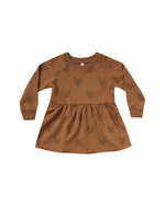 Rylee & Cru Fox Raglan Dress Cinnamon