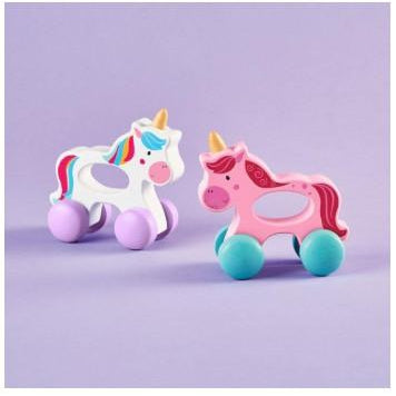 Rainbow Ride Wood Grasping Toy-Gifts - Toys-Two's Company-White/Purple-Eden Lifestyle