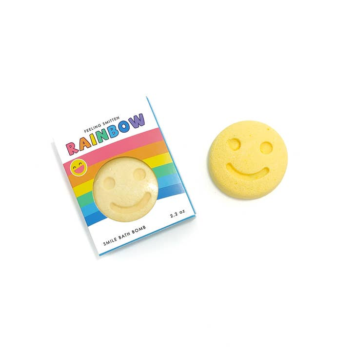Feeling Smitten, Gifts - Bath Bombs,  Rainbow Happy Face Bath Bomb