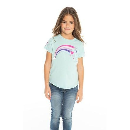 Chaser, Girl - Tees,  Chaser Girls Jersey Short Sleeve Crewneck Tee - Rainbow Hearts