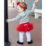 Red Frilly Knit RuffleButt-Baby Girl Apparel - Bloomers-Ruffle Butts-0-3M-Eden Lifestyle