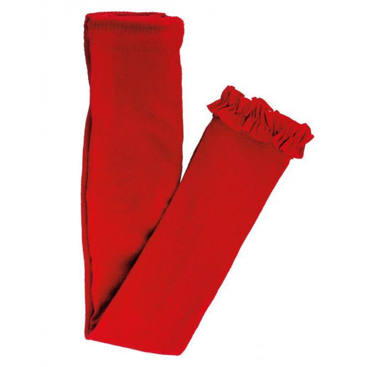 Red Footless Ruffly Tights-Girl - Leggings-Ruffle Butts-6-12M-Eden Lifestyle