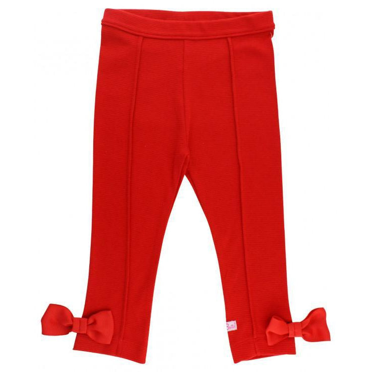 Red Ponte Pants-Girl - Pants-Ruffle Butts-2T-Eden Lifestyle