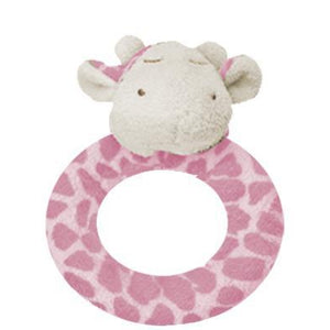 Angel Dear Ring Rattle-Baby - Soothing-Angel Dear-Pink Giraffe-Eden Lifestyle
