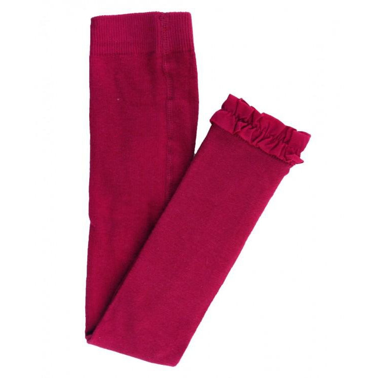 Mulberry Footless Ruffle Tights-Girl - Leggings-Ruffle Butts-2T-4T-Eden Lifestyle