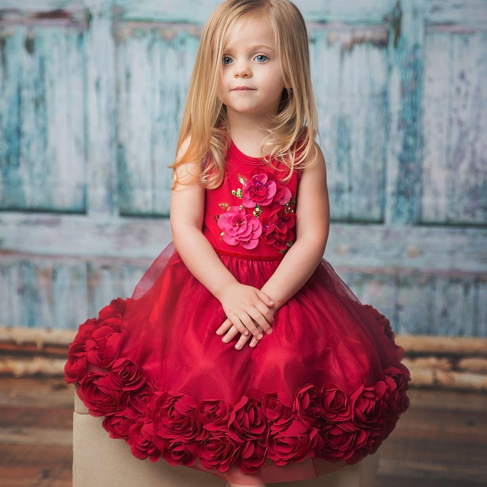 Ruby Sparkle Dress - Haute Baby-Girl - Dresses-Haute Baby-3T-Eden Lifestyle