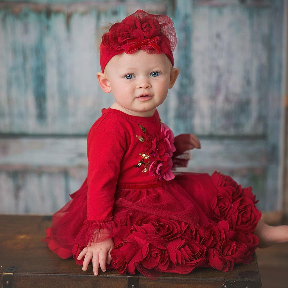 Haute Baby, Baby Girl Apparel - Dresses,  Ruby Sparkle - Haute Baby