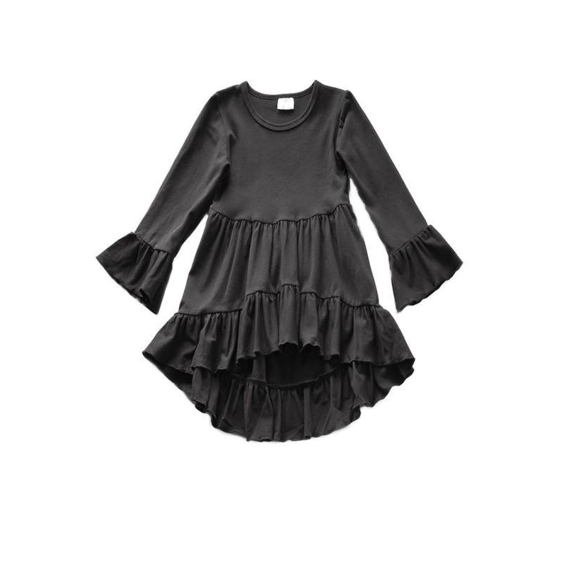 Ruffle Top - Black-Girl - Shirts & Tops-Eden Lifestyle-4Y-Eden Lifestyle
