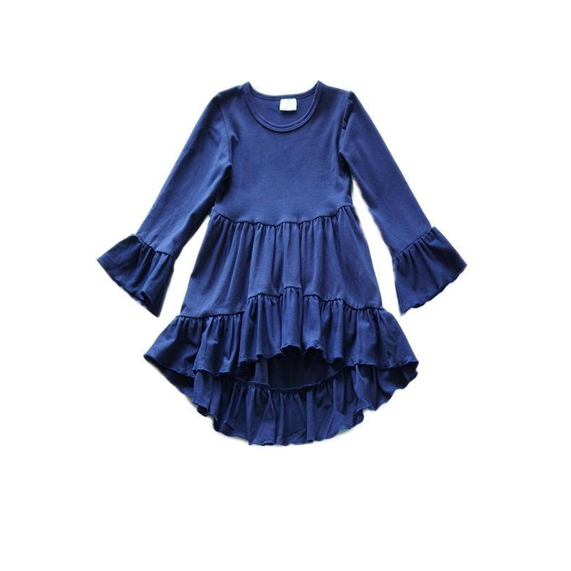 Ruffle Top - Navy-Girl - Shirts & Tops-Eden Lifestyle-12-18M-Eden Lifestyle