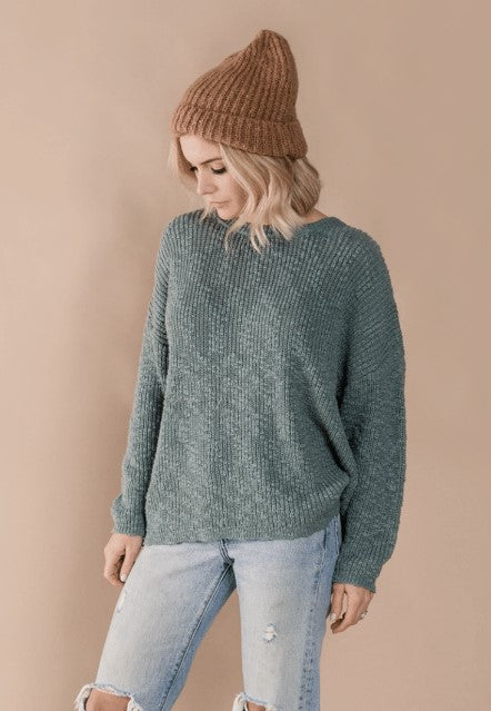 Rylee & Cru Boxy Pullover Dusty Blue