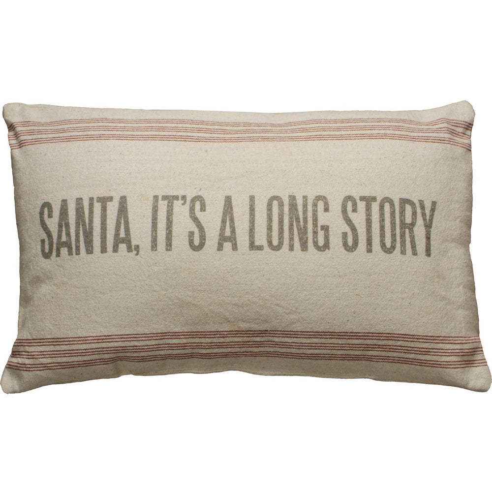 Long Story Pillow