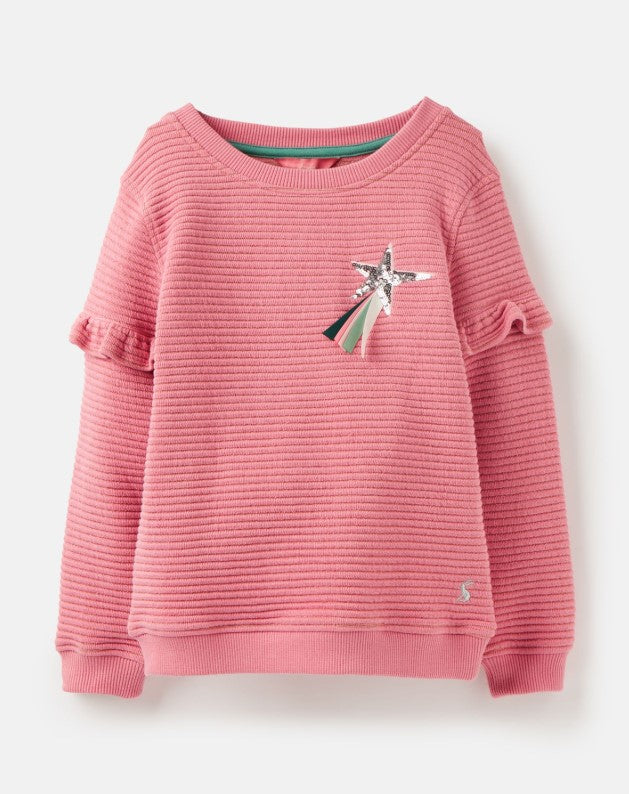 Joules Tiana Pink Shooting Star Sweatshirt