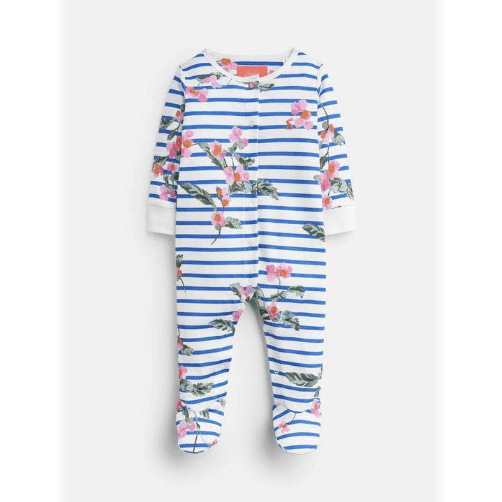 Joules Girls Blue Cotton Razamataz Babygrow-Footie-Joules-0-3M-Eden Lifestyle