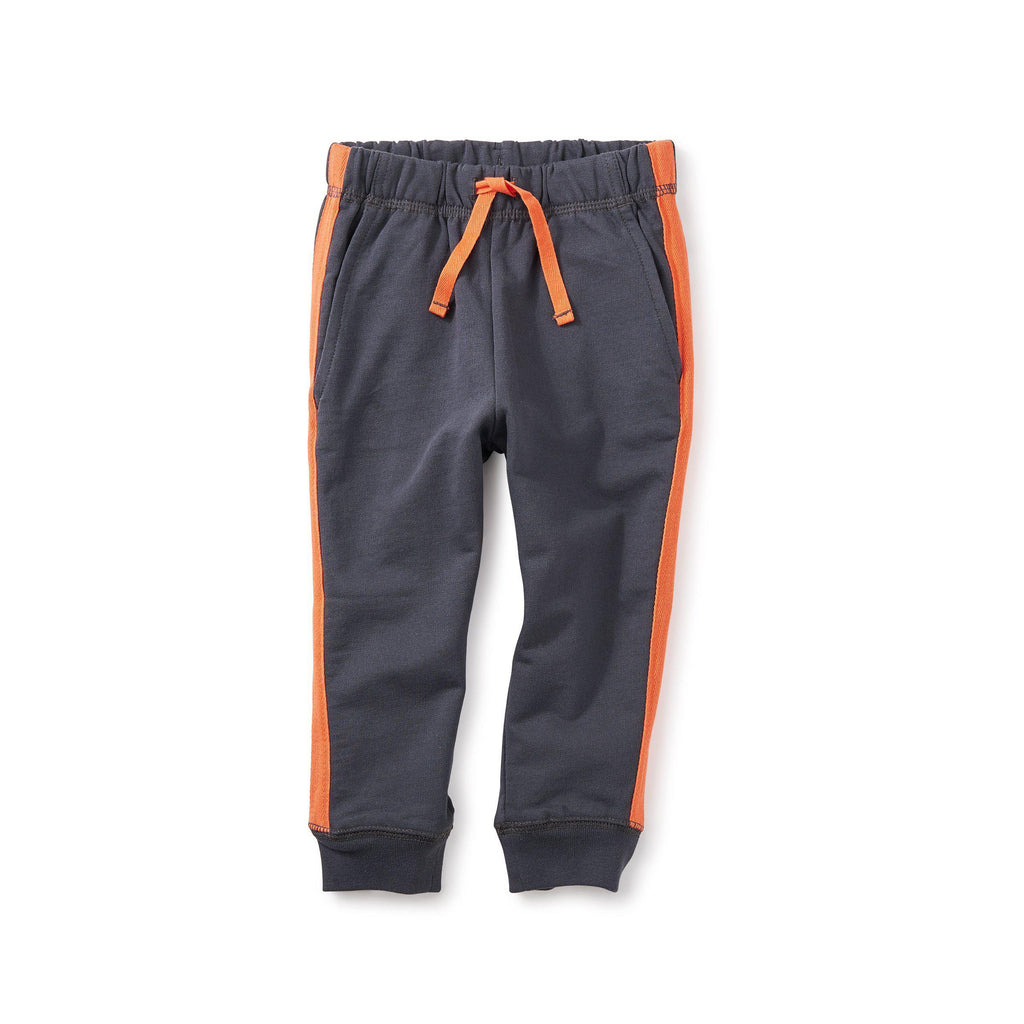 Side Stripe Baby Joggers - Coal-Baby Boy Apparel - Pants-Tea Collection-3-6M-Eden Lifestyle