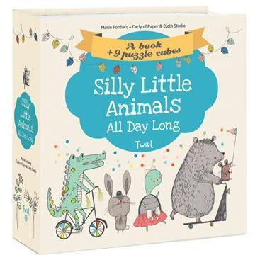 Silly Little Animals All Day Long Book & Puzzle-Books-Eden Lifestyle-Eden Lifestyle