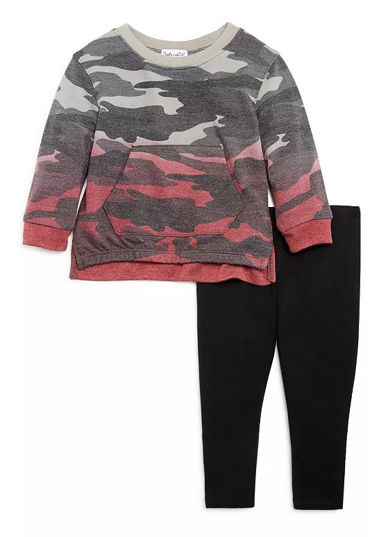 Splendid Dip-Dyed Camo Top and Legging Baby Set