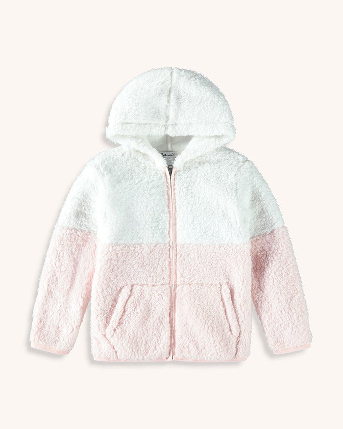Splendid, Girl - Outerwear,  Splendid Girls Two Tone Sherpa Hoodie