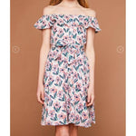 Hayden Spring Ruffle Belted Dress-Girl - Dresses-Hayden LA-7-Eden Lifestyle