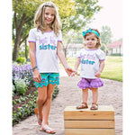 Little Sis Tee-Baby Girl Apparel - Tees-Ruffle Butts-12-18M-Eden Lifestyle