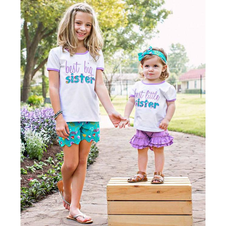 be3633e9ca5d Little Sis Tee-Baby Girl Apparel - Tees-Ruffle Butts-12-18M