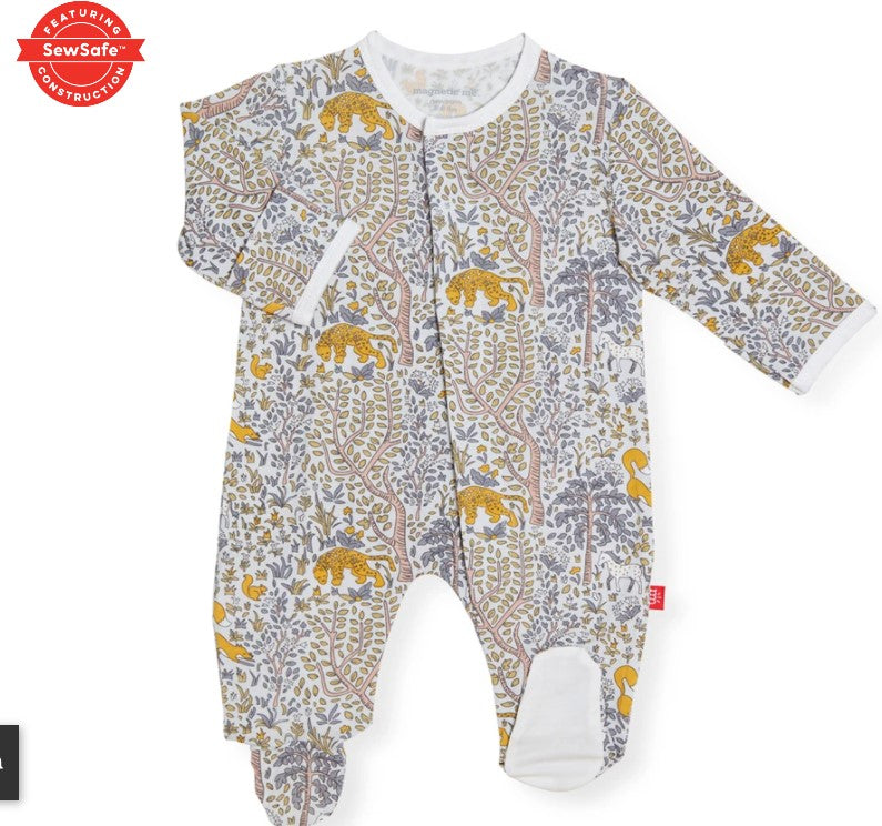 Magnificent Baby, Baby Boy Apparel - Pajamas,  Magnetic Me Sumatra Modal Magnetic Footie