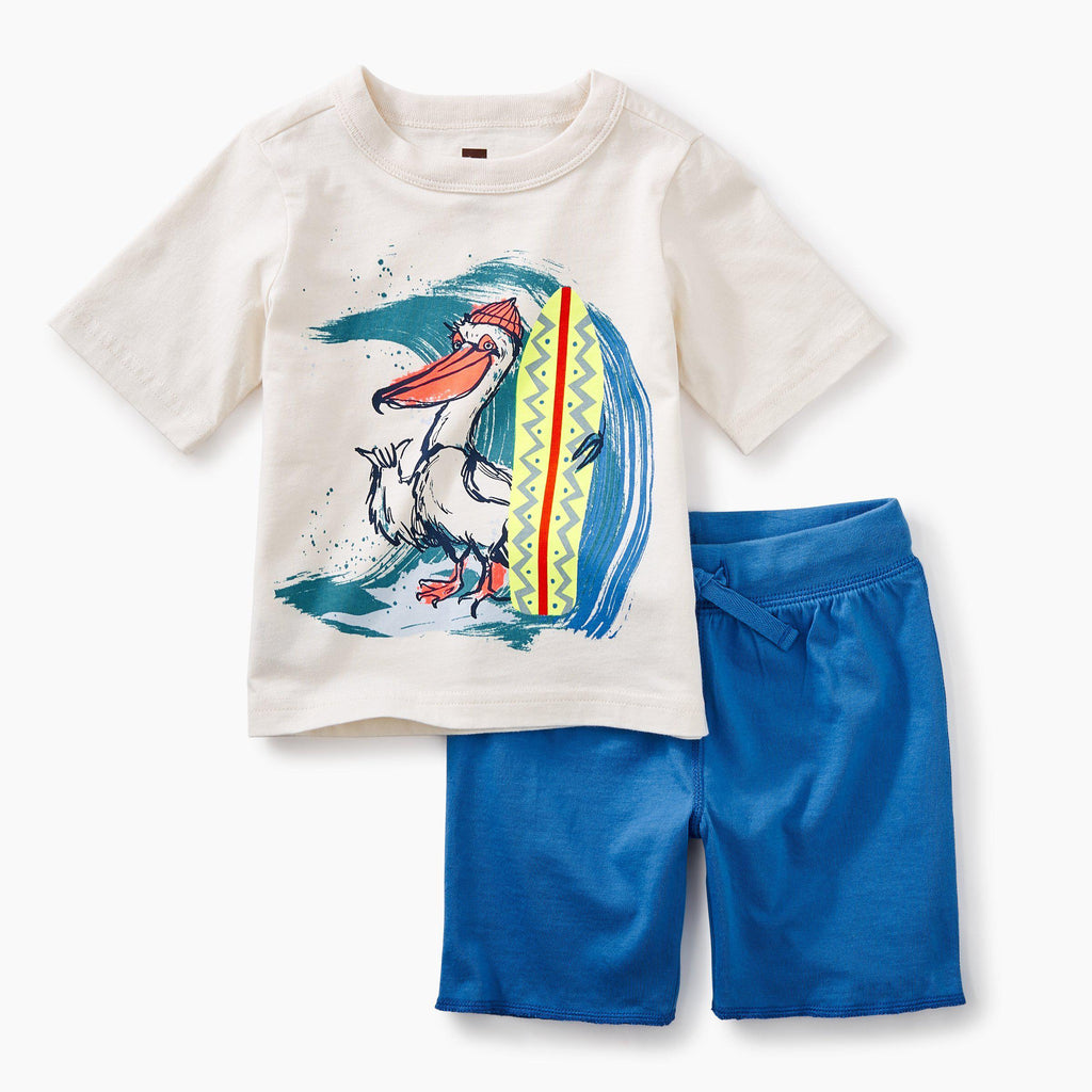 Surfing Pelican Outfit-Boys Sets-Tea Collection-3-6M-Eden Lifestyle