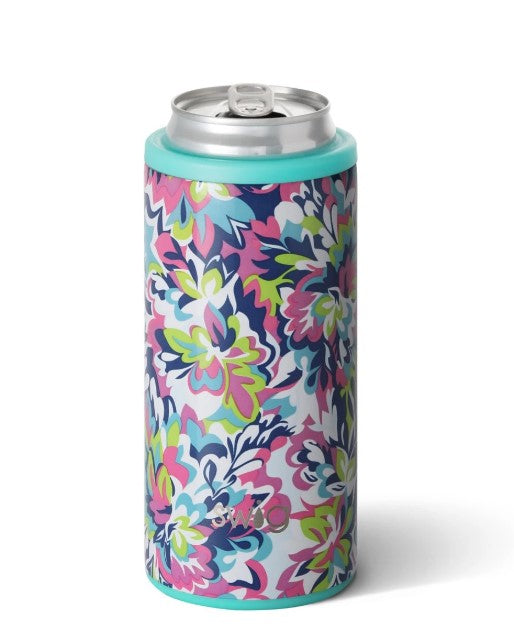 Swig, Home - Drinkware,  Swig 12oz Skinny Can Cooler - Frilly Lilly