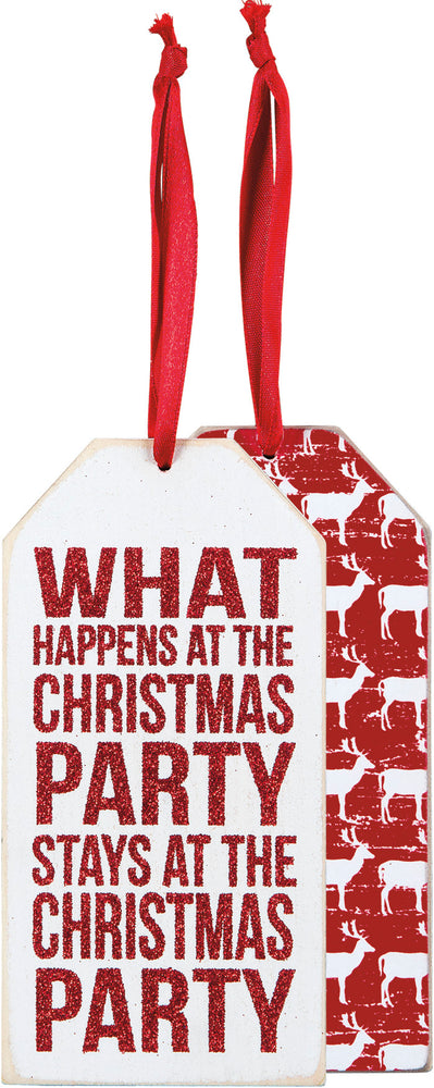Bottle Tag - Christmas Party