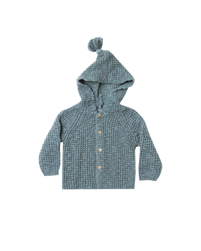 Rylee & Cru Tassle Cardigan Dusty Blue