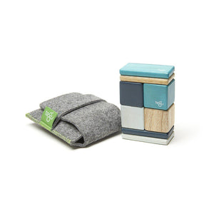 Tegu, Gifts - Toys,  Tegu Magnetic Blocks Original Pocket Pouch - Blues