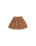 Rylee and Cru, Girl - Skirts,  Rylee & Cru Ditsy Tiered Mini Skirt Cinnamon