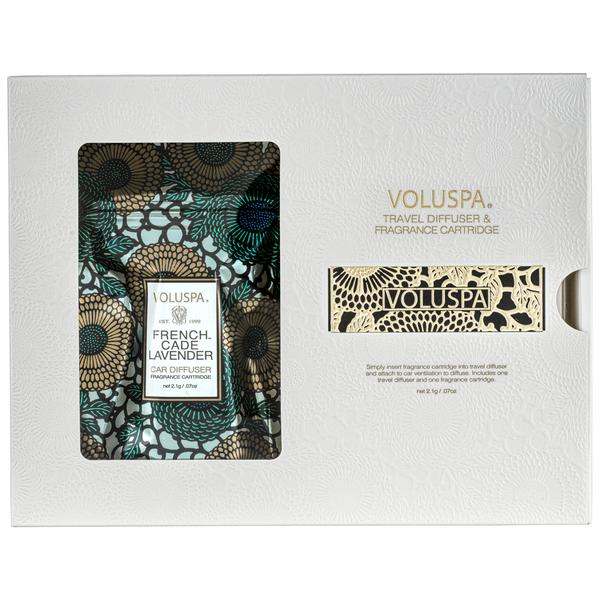 Voluspa, Home - Candles,  Voluspa Travel Diffuser & Fragrance Cartridge French Cade Lavendar