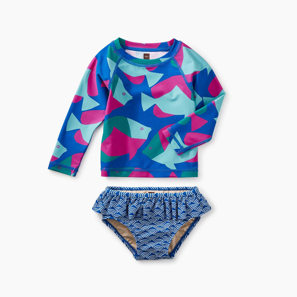 Tropical Fish Rash Guard Set-Swimsuit-Tea Collection-6-9M-Eden Lifestyle