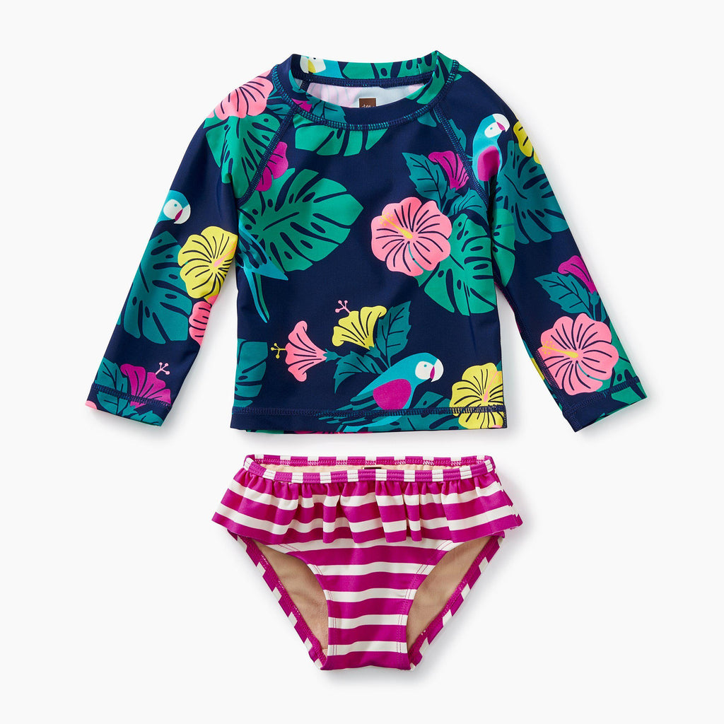 Tropical Floral Rash Guard Set-Swimsuit-Tea Collection-6-9M-Eden Lifestyle