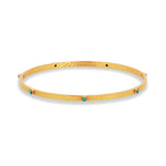 Julie Vos, Accessories - Jewelry,  Julie Vos - Crescent Bangle Turquoise Blue