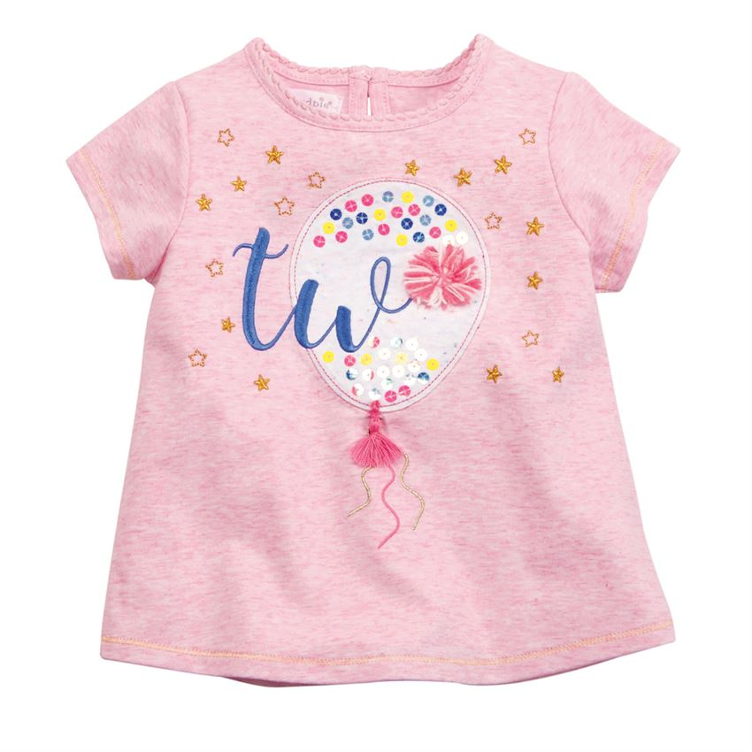 Two Birthday Tee-Baby Girl Apparel - Tees-Mud Pie-Eden Lifestyle