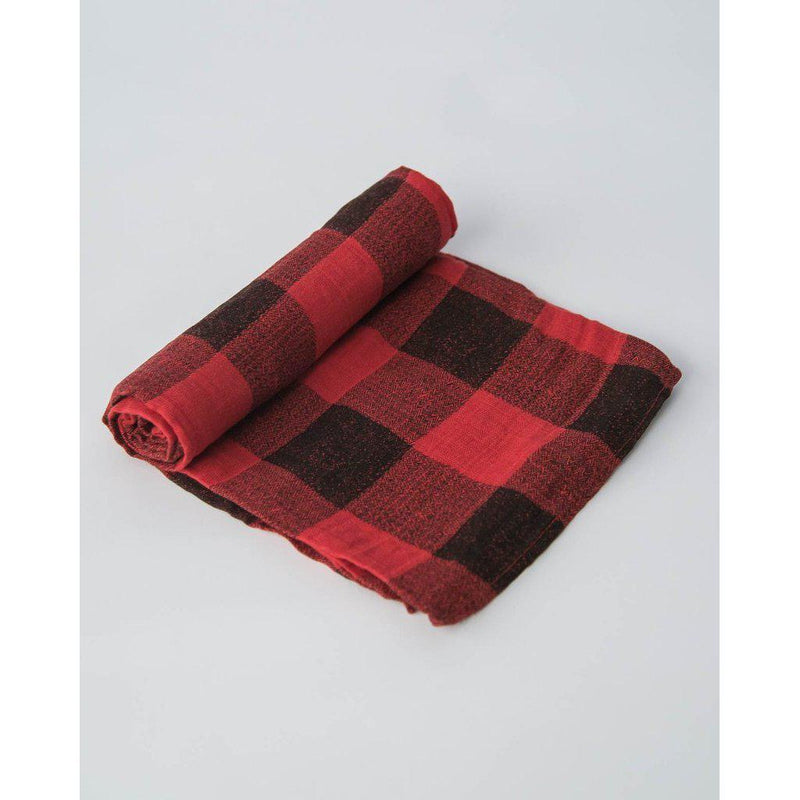Little Unicorn Swaddle - Red Plaid