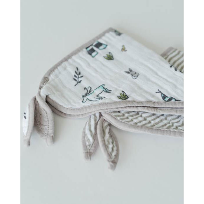 Cotton Muslin Bandana Bib - Forest Friends