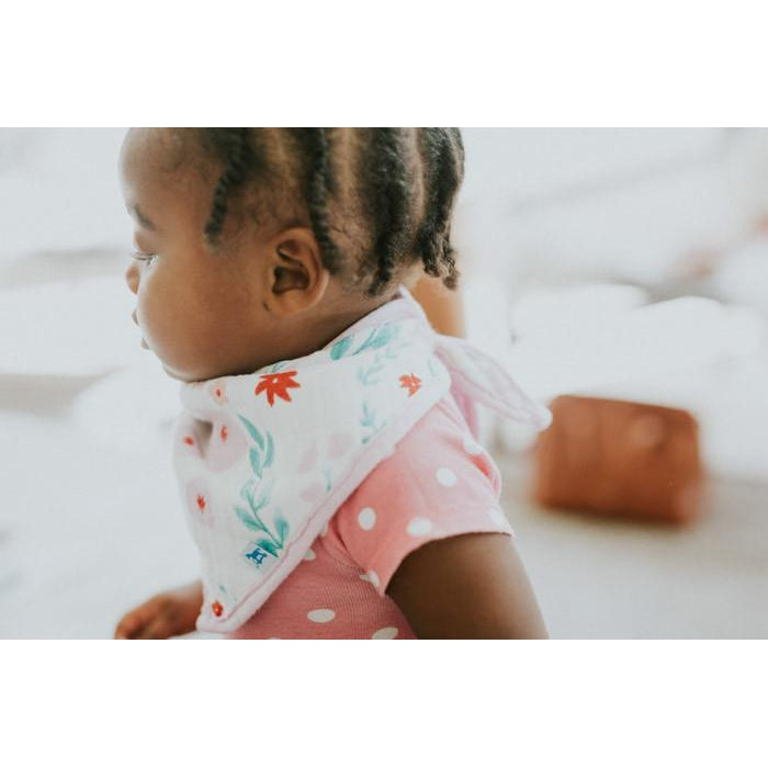 Cotton Muslin Bandana Bib - Morning Glory
